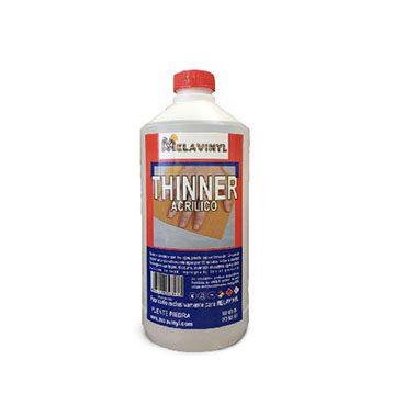 Thiner Acrilico 1 Litro Melavinyl