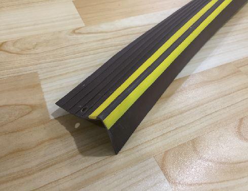 Perfil Esquinero Marrón y Amarillo 7cm Melavinyl