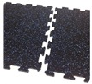 Piso Caucho negro con azul